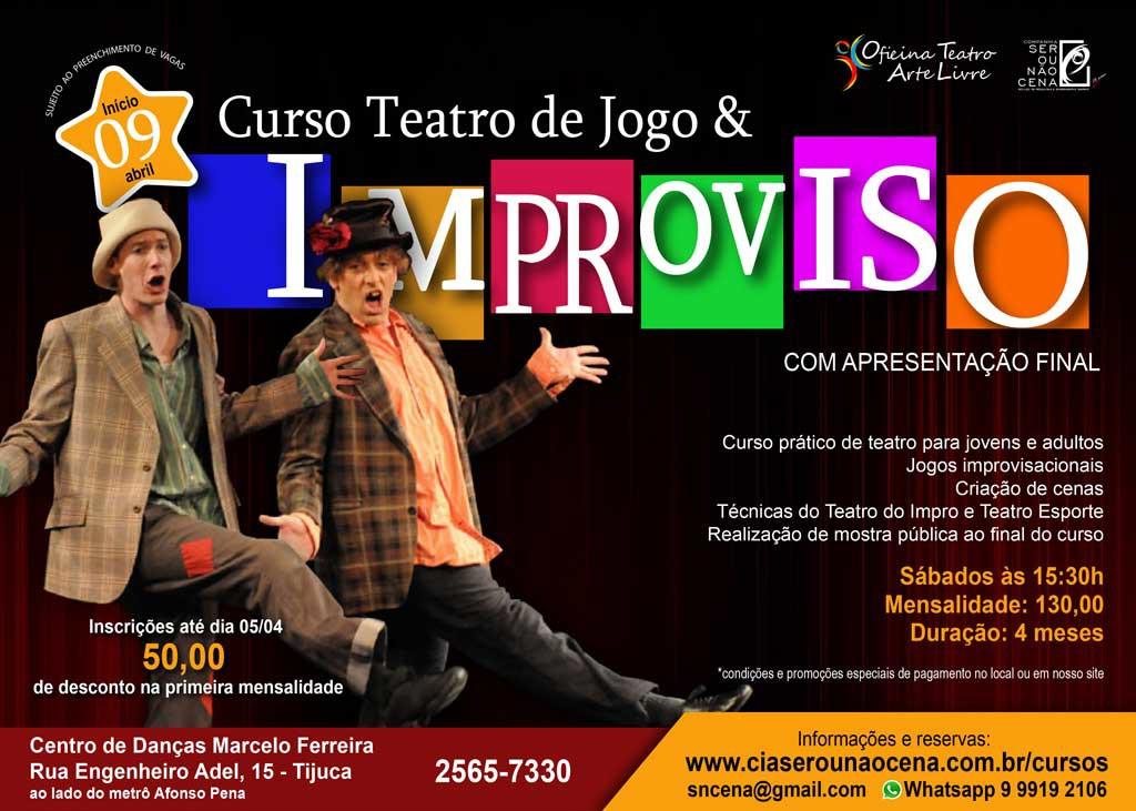 Curso Teatro De Jogo E Improviso